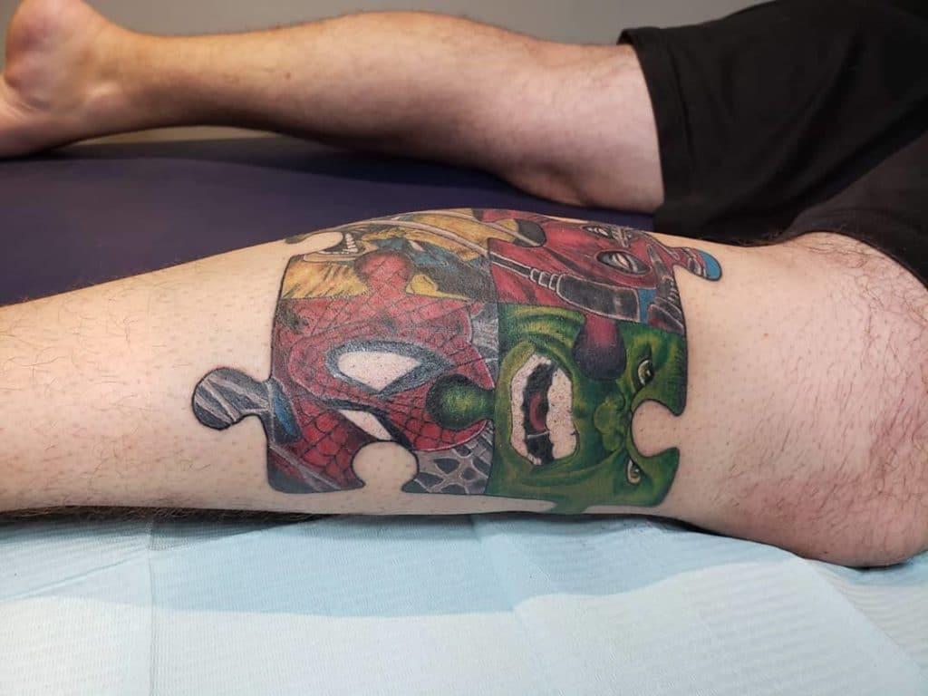 Татуировки в виде пазла