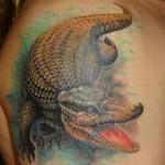 Фото тату крокодил на плече