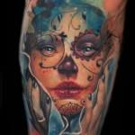 Day of the Dead Girl Portrait Tattoo