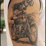 Lord-Shiva-On-Bullet-Tattoo-On-Right-Shoulder-By-Studio-Z