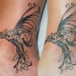 чб татуировка колибри