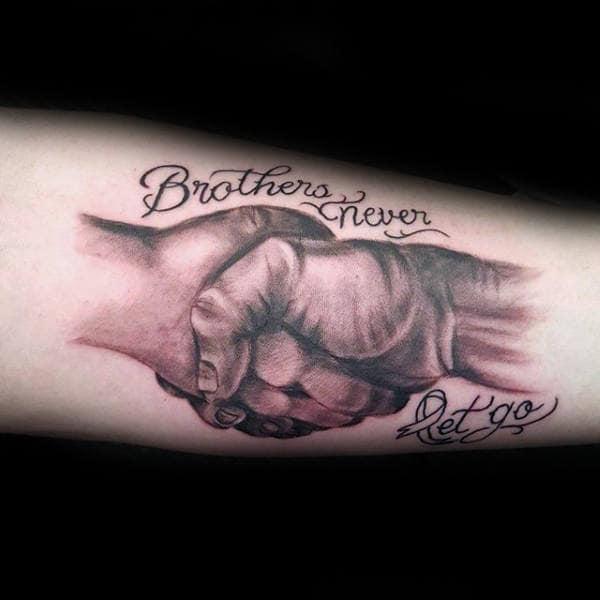 Фотографии татуировки надпись брат