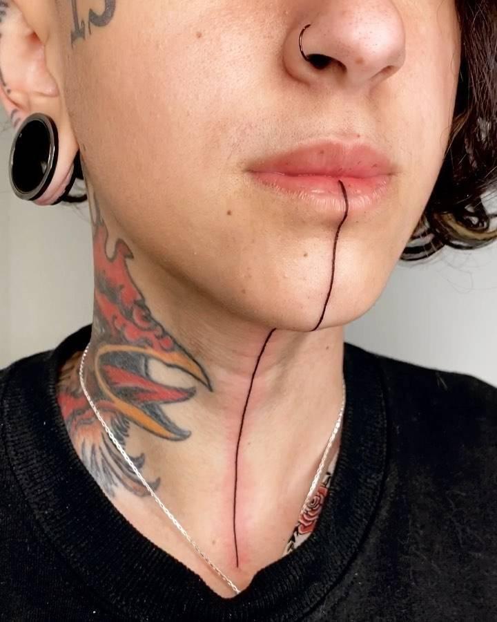 Фотографии татуировок линии