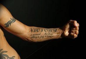 Фотографии татуировки надпись