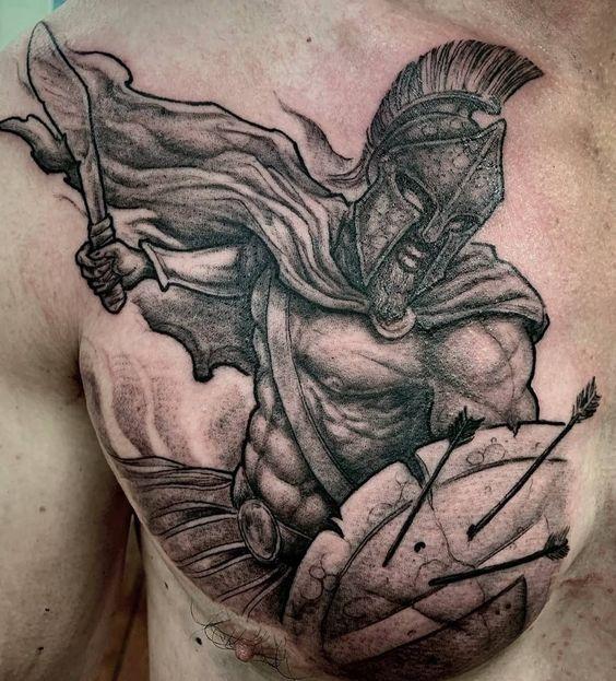 Татуировка Спартак на теле