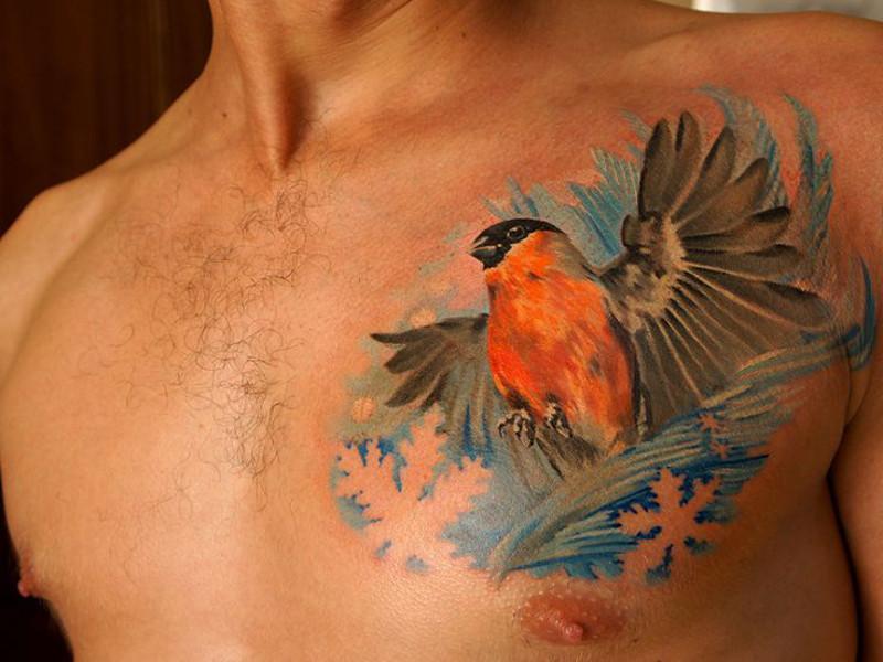 Значение татуировки снегирь