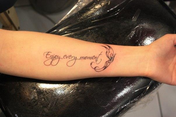 Фотографии татуировки надписи