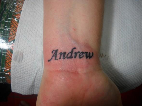 Фотографии татуировки имя Андрей