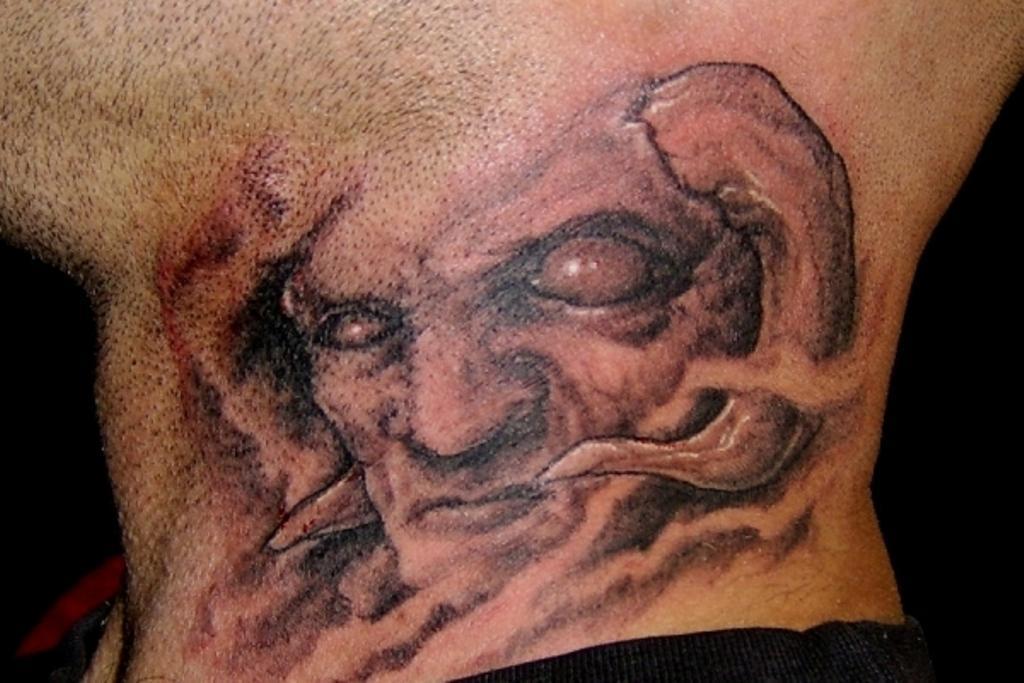 Значение и фото татуировки демон