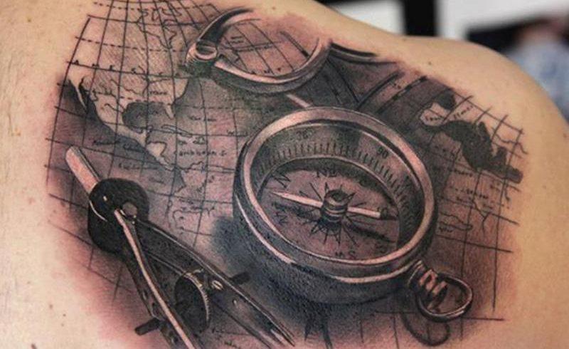 Значение тату компас