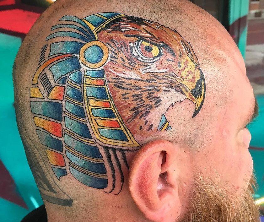 Тату в египетском стиле