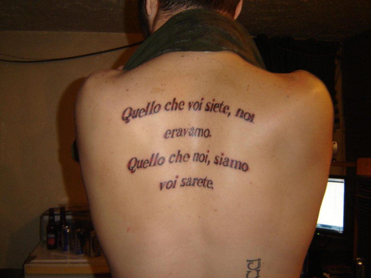 Фотографии татуировок молитва на латыни