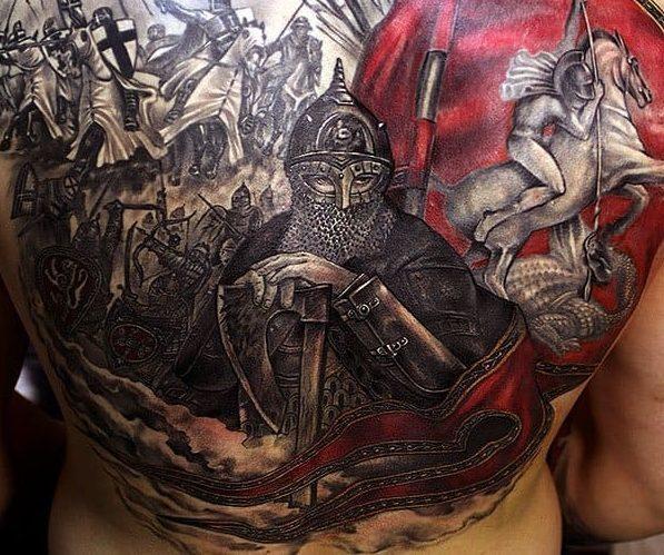 Фотографии татуировок витязь