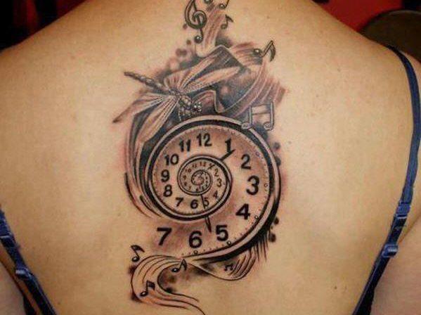 Что означает тату часы?