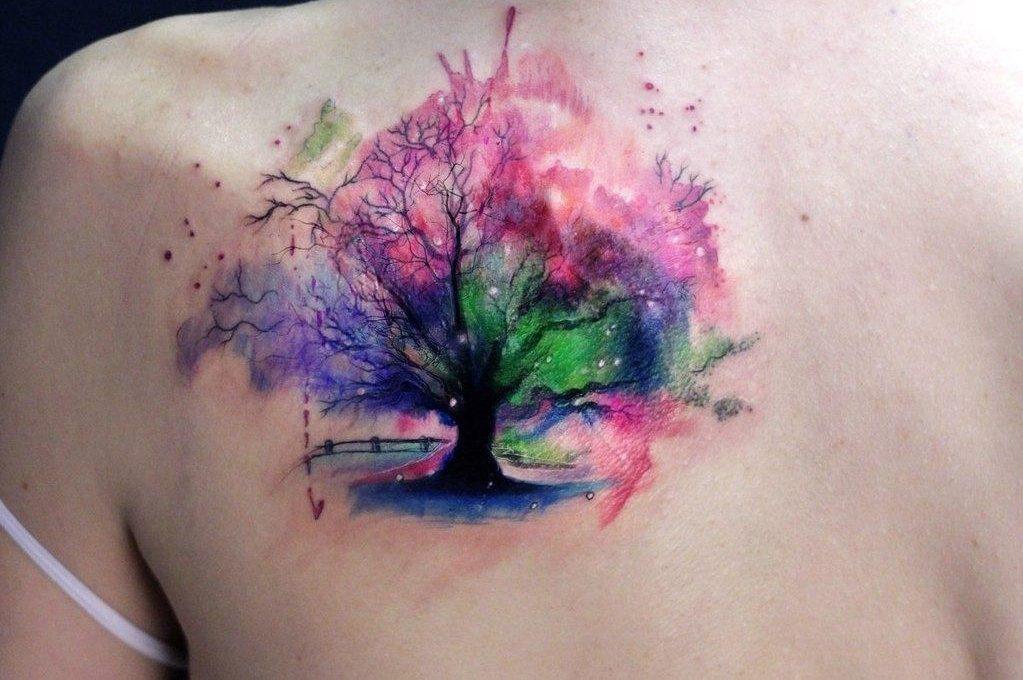 Татуировки в виде дерева