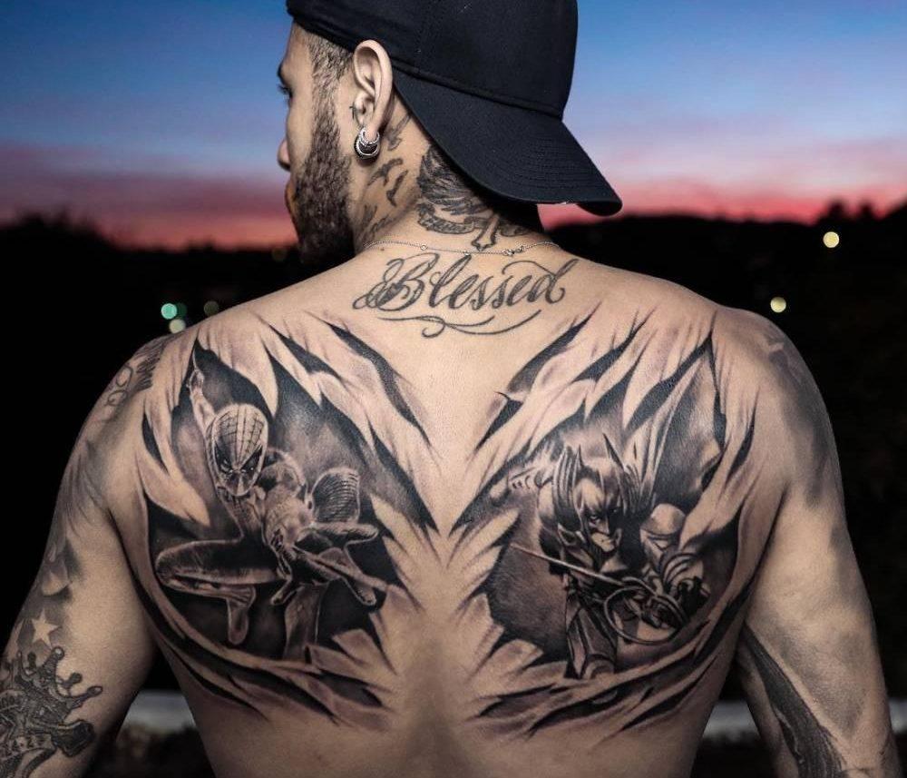 Татуировка Неймара на спине
